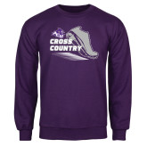 Purple Fleece Crew-Cross Country Shoe Design