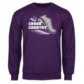 Purple Fleece Crew-Cross Country Shoe Design