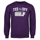 Purple Fleece Crew-Tee Off Golf Design