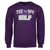 Purple Fleece Crew-Tee Off Golf Design