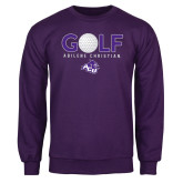 Purple Fleece Crew-Golf Ball Design