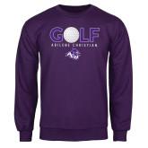 Purple Fleece Crew-Golf Ball Design