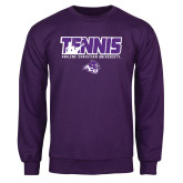 Purple Fleece Crew-Tennis Player Design
