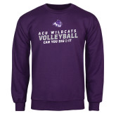 Purple Fleece Crew-Can You Dig It - Volleyball