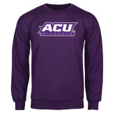 Purple Fleece Crew-ACU Wildcats