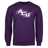 ACU Wildcat Purple Fleece Crew-Angled ACU