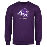 ACU Wildcat Purple Fleece Crew-Alumni