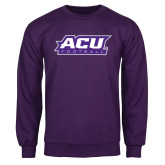 ACU Wildcat Purple Fleece Crew-Football