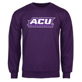 Purple Fleece Crew-Basketball