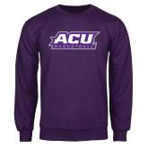 Purple Fleece Crew-Basketball