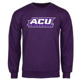 Purple Fleece Crew-Baseball