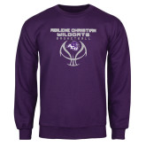 ACU Wildcat Purple Fleece Crew-Design On Basketball