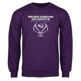 Purple Fleece Crew-Design On Basketball