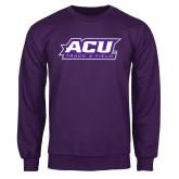 Purple Fleece Crew-Track & Field