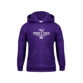 Youth Purple Fleece Hoodie-Track and Field Shoe Design