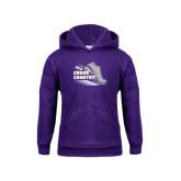 Youth Purple Fleece Hoodie-Cross Country Shoe Design