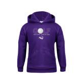 Youth Purple Fleece Hoodie-Golf Ball Design