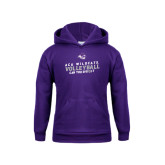 Youth Purple Fleece Hoodie-Can You Dig It - Volleyball