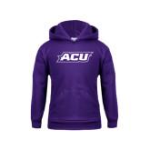 Youth Purple Fleece Hoodie-ACU