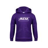 Youth Purple Fleece Hoodie-ACU Wildcats