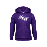 Youth Purple Fleece Hoodie-Angled ACU