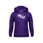 Youth Purple Fleece Hoodie-Angled ACU
