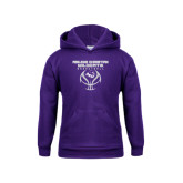 Youth Purple Fleece Hoodie-Design On Basketball