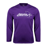 Performance Purple Longsleeve Shirt-Primary Logo