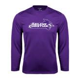 ACU Wildcat Syntrel Performance Purple Longsleeve Shirt-Primary Logo