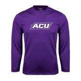Performance Purple Longsleeve Shirt-ACU
