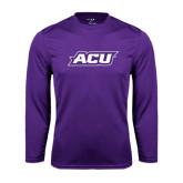 ACU Wildcat Syntrel Performance Purple Longsleeve Shirt-ACU
