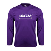 Performance Purple Longsleeve Shirt-ACU Wildcats
