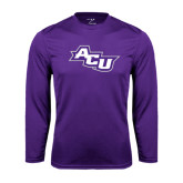 Performance Purple Longsleeve Shirt-Angled ACU