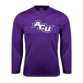 ACU Wildcat Syntrel Performance Purple Longsleeve Shirt-Angled ACU