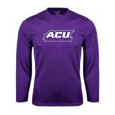 Syntrel Performance Purple Longsleeve Shirt-Football