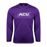 ACU Wildcat Syntrel Performance Purple Longsleeve Shirt-Basketball