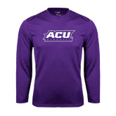 ACU Wildcat Syntrel Performance Purple Longsleeve Shirt-Baseball