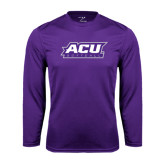 Performance Purple Longsleeve Shirt-Softball