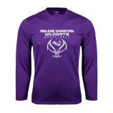 Performance Purple Longsleeve Shirt-Design On Basketball