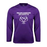Syntrel Performance Purple Longsleeve Shirt-Design On Basketball