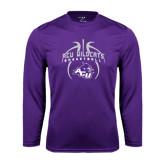 ACU Wildcat Syntrel Performance Purple Longsleeve Shirt-Design On Basketball
