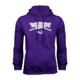 Purple Fleece Hoodie-Baseball Crossed Bats Design