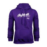 Purple Fleece Hoodie-Softball Script w/ Bat Design