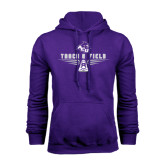 Purple Fleece Hoodie-Track and Field Shoe Design