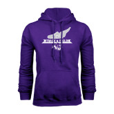 Purple Fleece Hoodie-Track and Field Side Shoe Design