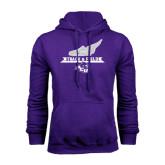 Purple Fleece Hoodie-Track and Field Side Shoe Design