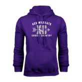 Purple Fleece Hoodie-Cross Country Design