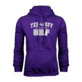Purple Fleece Hoodie-Tee Off Golf Design