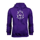 Purple Fleece Hoodie-Soccer Ball Design