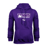 Purple Fleece Hoodie-Tennis Player Design